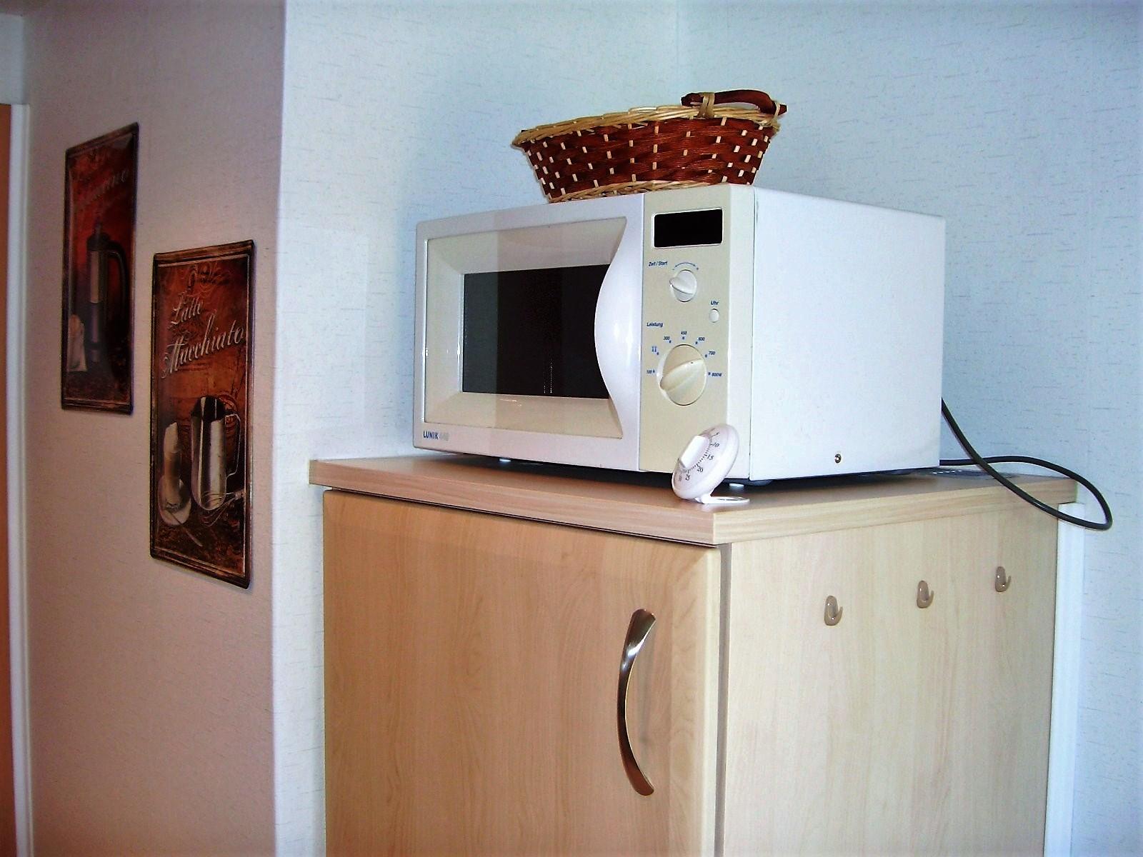 Foto von der Küche Microwelle