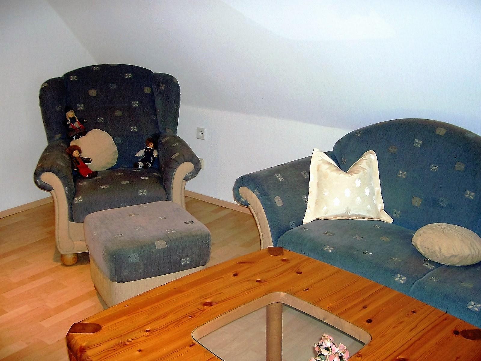 Foto von der Sitzecke im Wohnzimmer